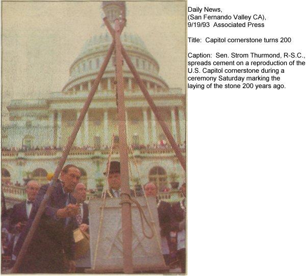 Masonic Foundations of the U S