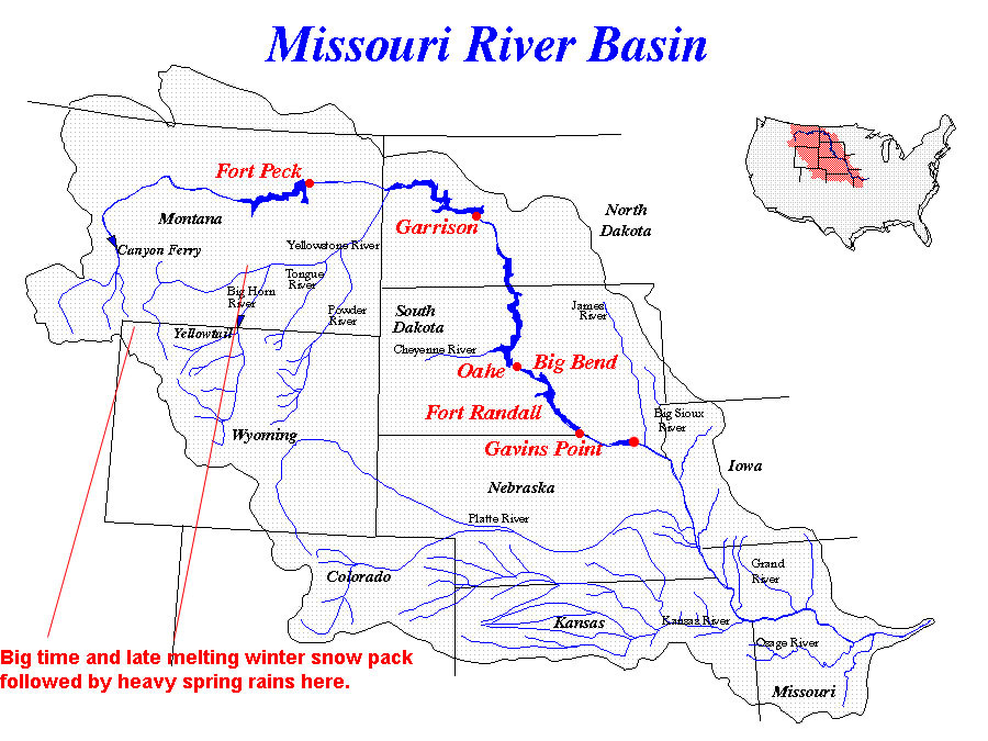 Where Does The Missouri River Start And End Map Missouri Map - Missouri river on a us map